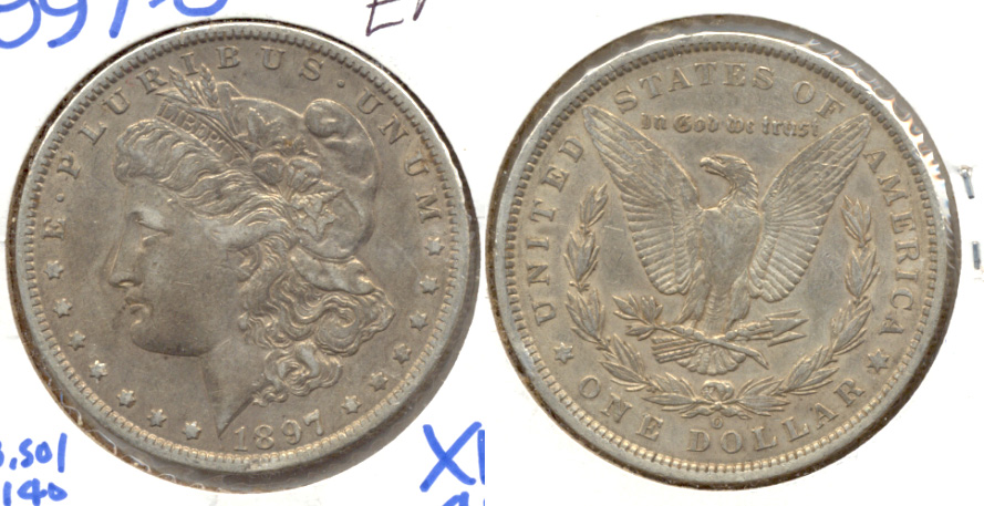 1897-O Morgan Silver Dollar EF-40 a