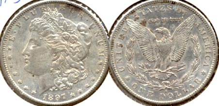 1897-S Morgan Silver Dollar AU-50