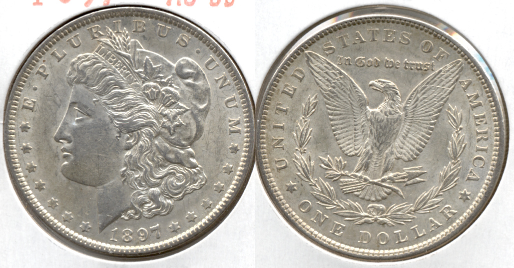 1897 Morgan Silver Dollar AU-50 d