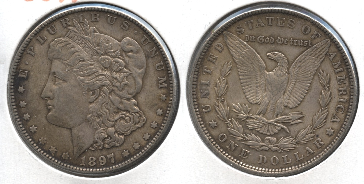 1897 Morgan Silver Dollar AU-50 #l