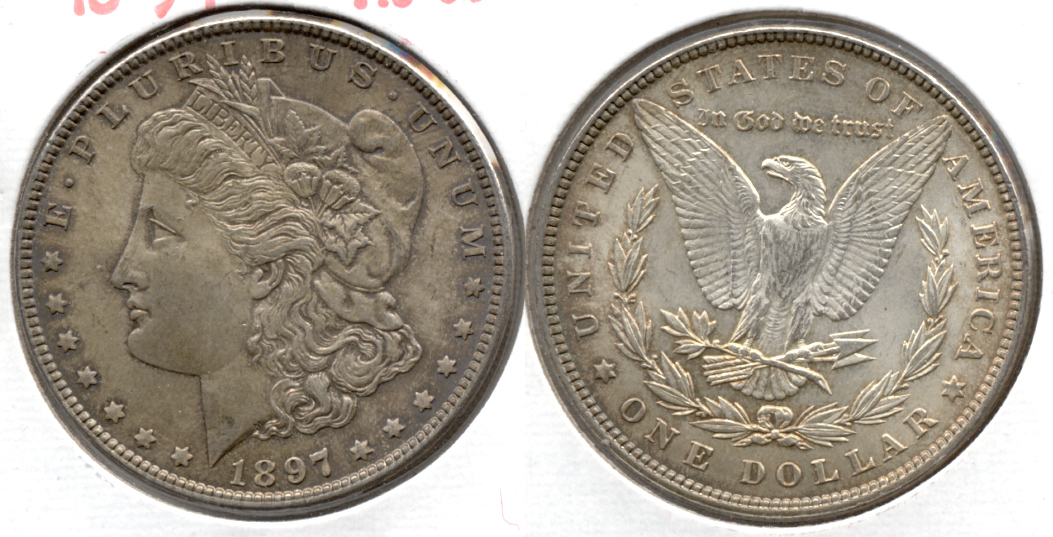 1897 Morgan Silver Dollar AU-55 a