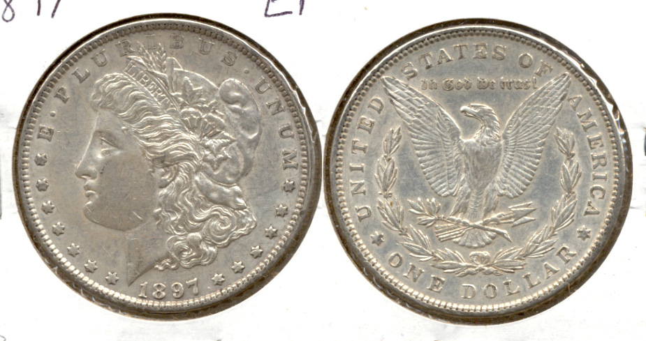 1897 Morgan Silver Dollar EF-40 b