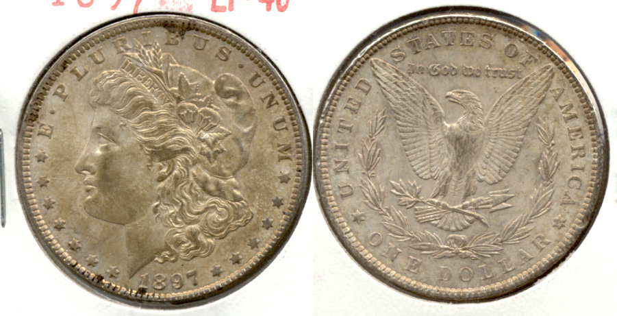 1897 Morgan Silver Dollar EF-40 c