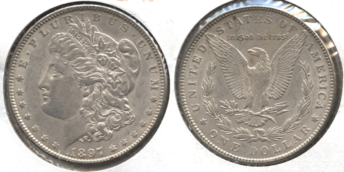 1897 Morgan Silver Dollar EF-45 #e