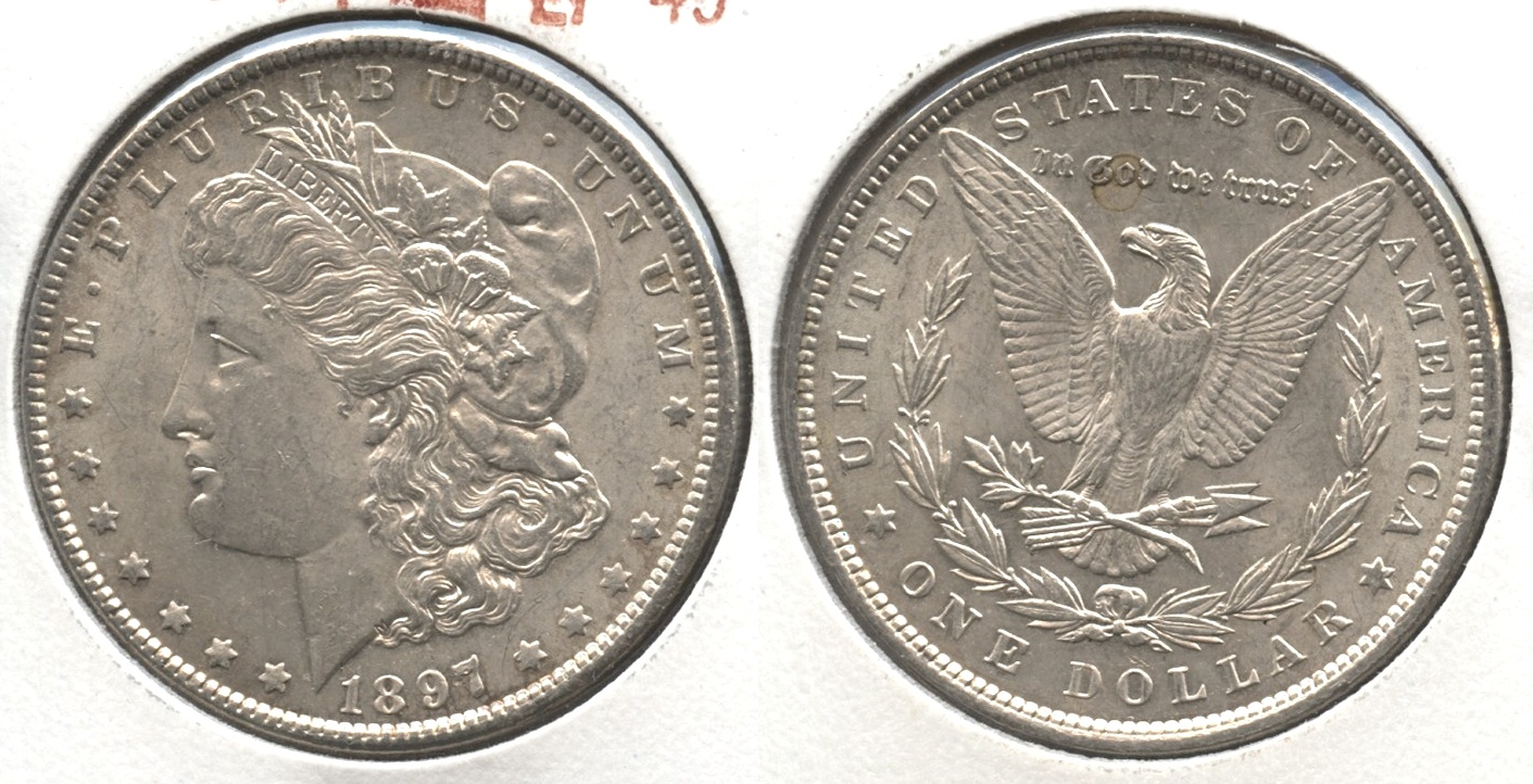 1897 Morgan Silver Dollar EF-45 #g