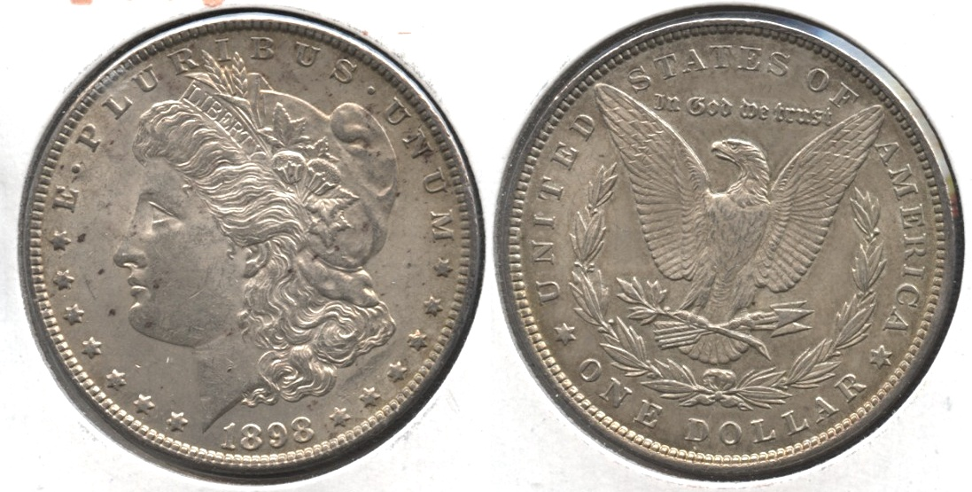 1898 Morgan Silver Dollar AU-50 #p