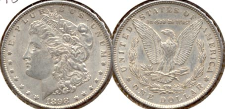 1898 Morgan Silver Dollar EF-40 a