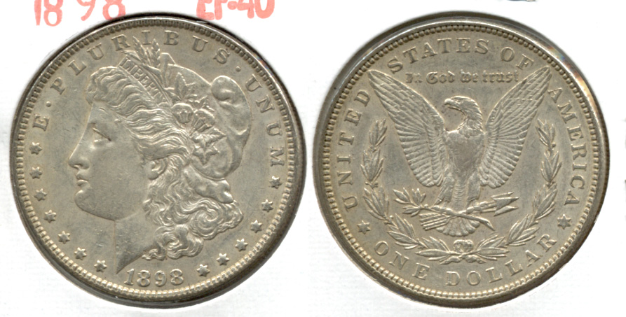 1898 Morgan Silver Dollar EF-40 k