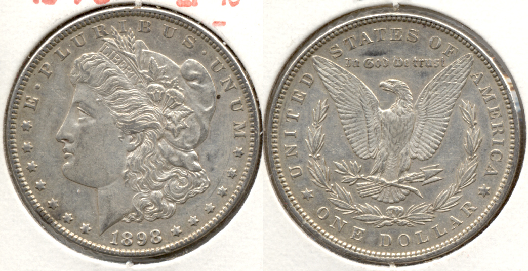 1898 Morgan Silver Dollar EF-45 j