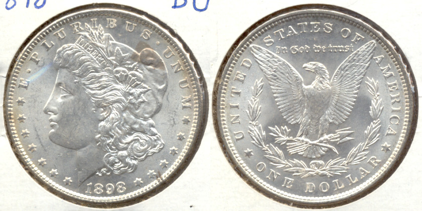 1898 Morgan Silver Dollar MS-60 c