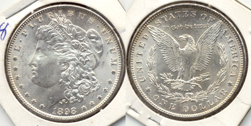 1898 Morgan Silver Dollar MS-63 b