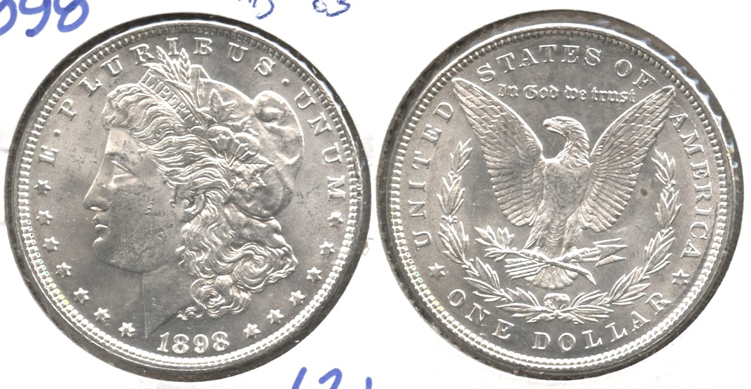 1898 Morgan Silver Dollar MS-63 #e