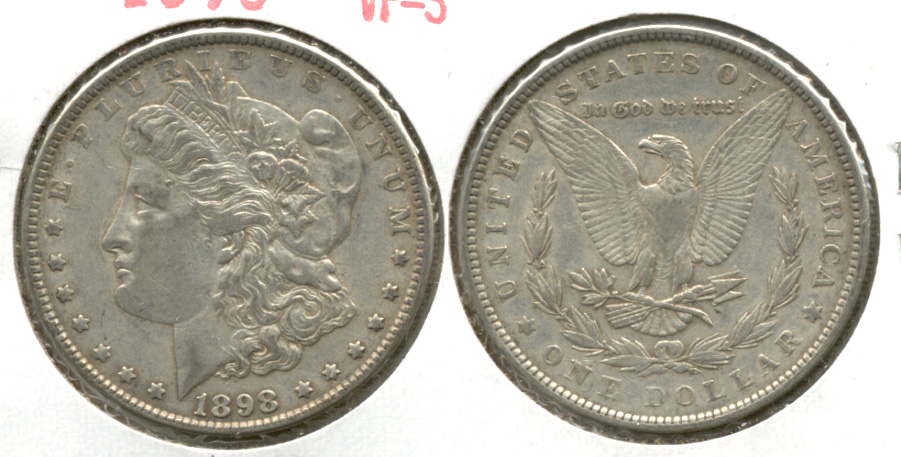 1898 Morgan Silver Dollar VF-30