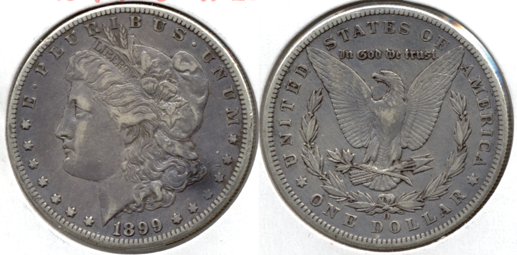1899-O Morgan Silver Dollar VF-20 g