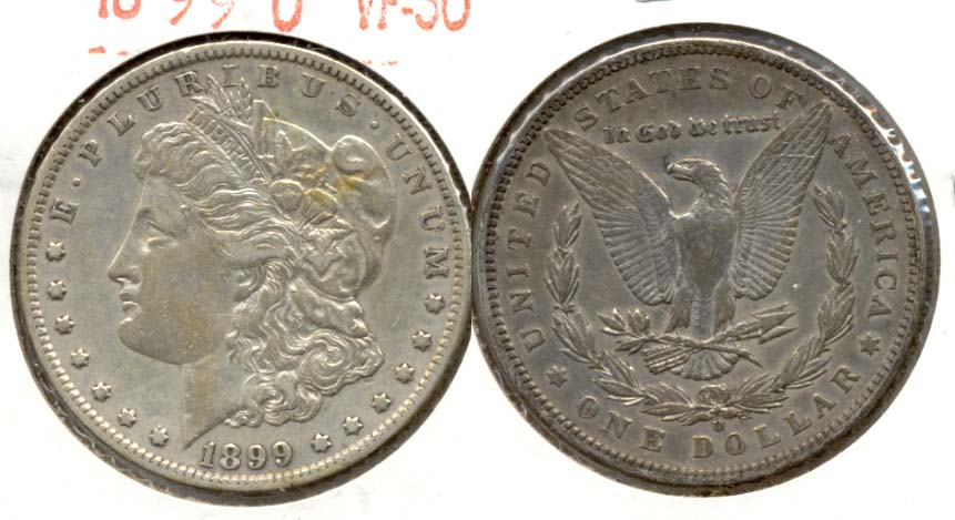 1899-O Morgan Silver Dollar VF-30