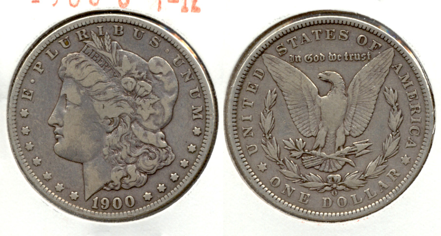 1900-O Morgan Silver Dollar Fine-12