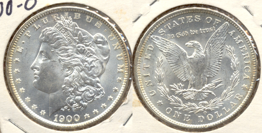 1900-O Morgan Silver Dollar MS-60 b