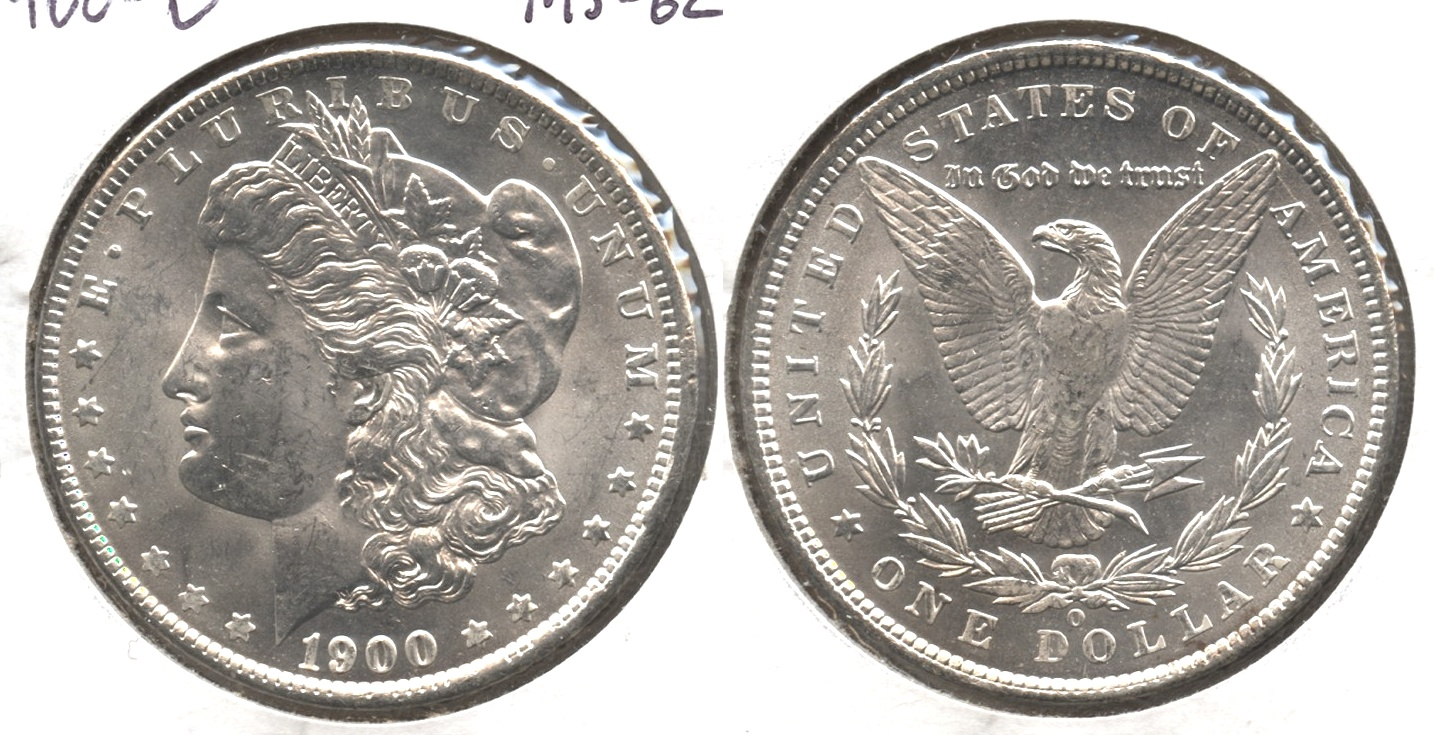 1900-O Morgan Silver Dollar MS-62 #a