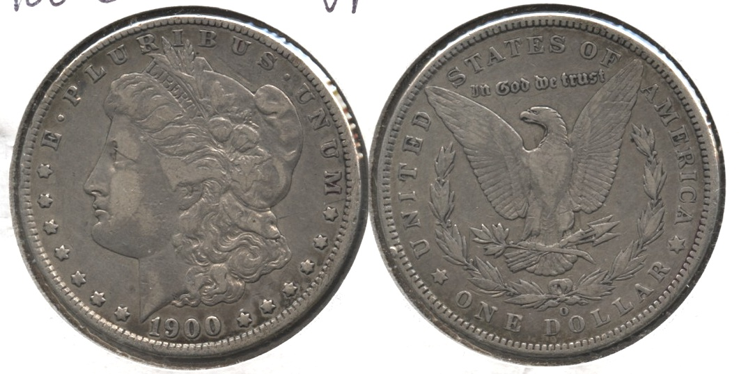 1900-O Morgan Silver Dollar VF-20 #h