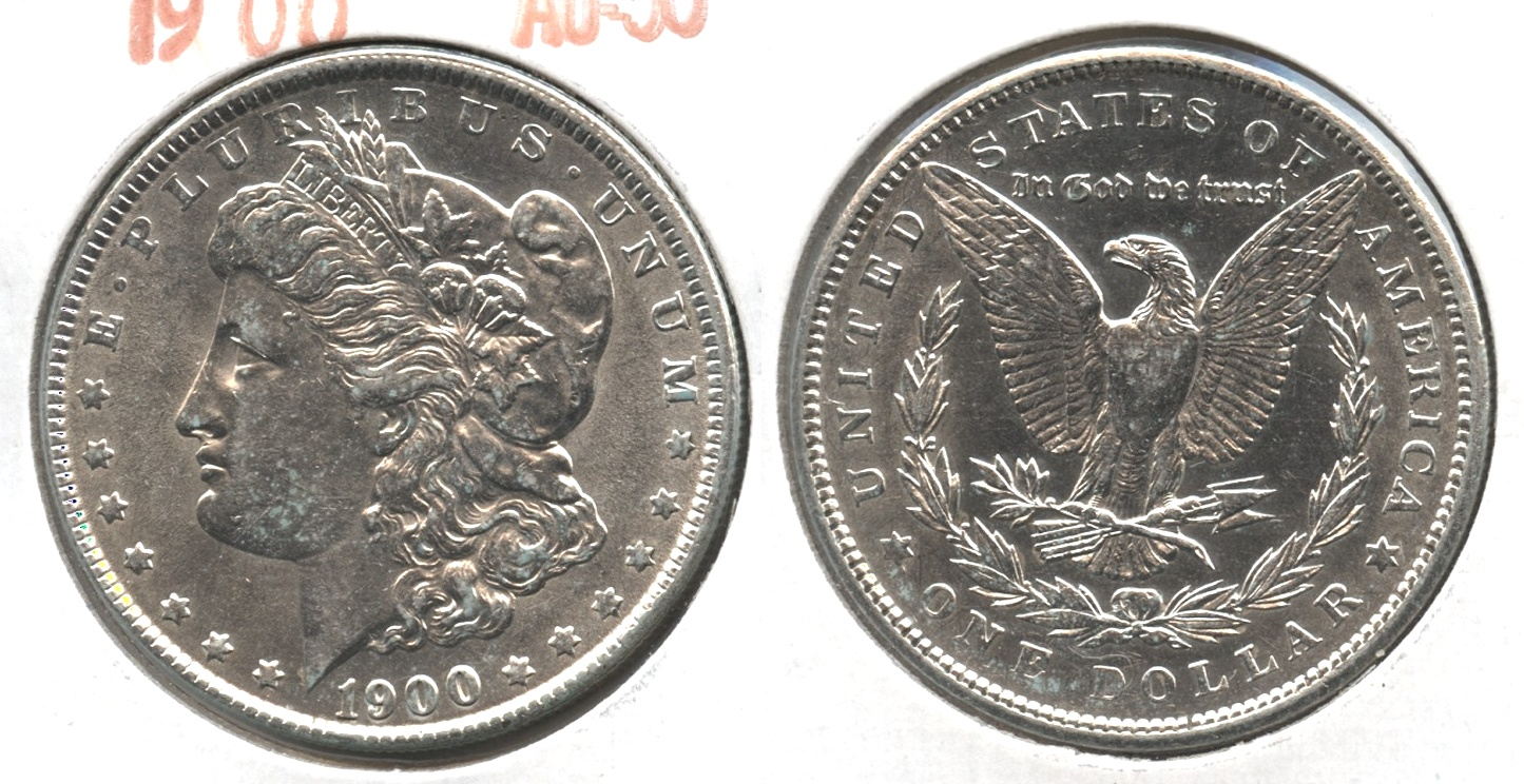 1900 Morgan Silver Dollar AU-50 #x