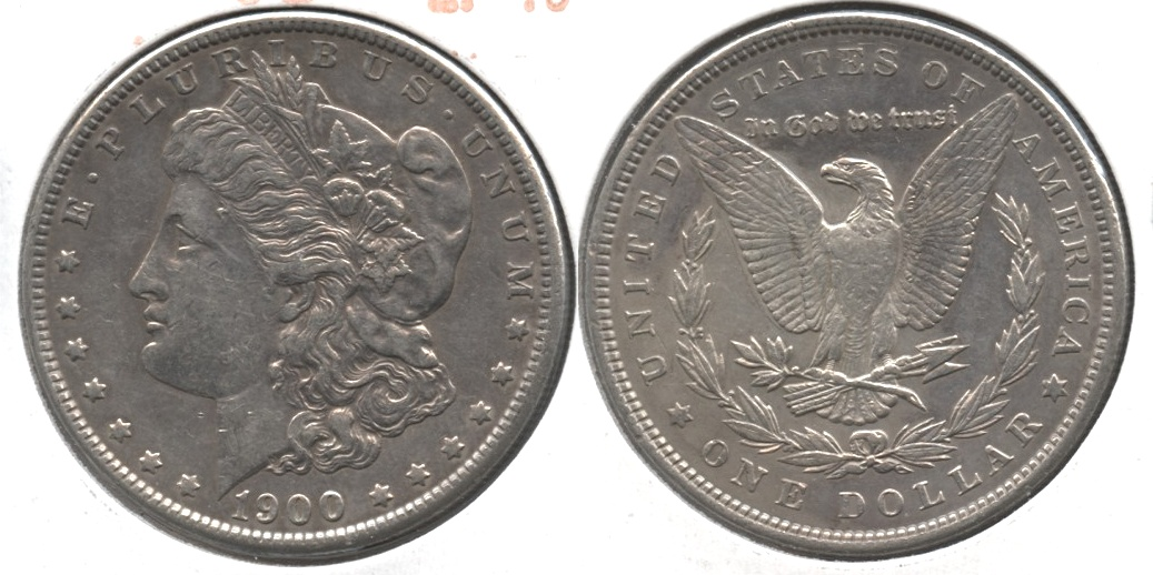 1900 Morgan Silver Dollar EF-40 #as
