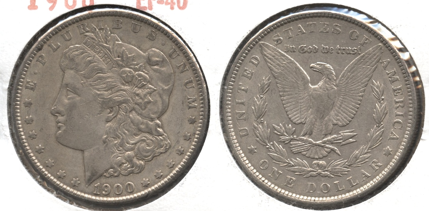 1900 Morgan Silver Dollar EF-40 #bn
