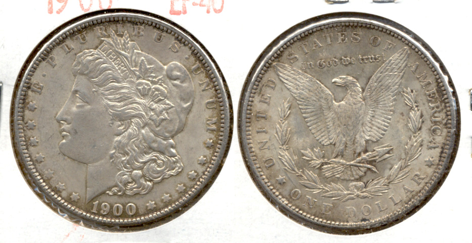 1900 Morgan Silver Dollar EF-40 i