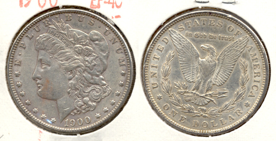 1900 Morgan Silver Dollar EF-40 k