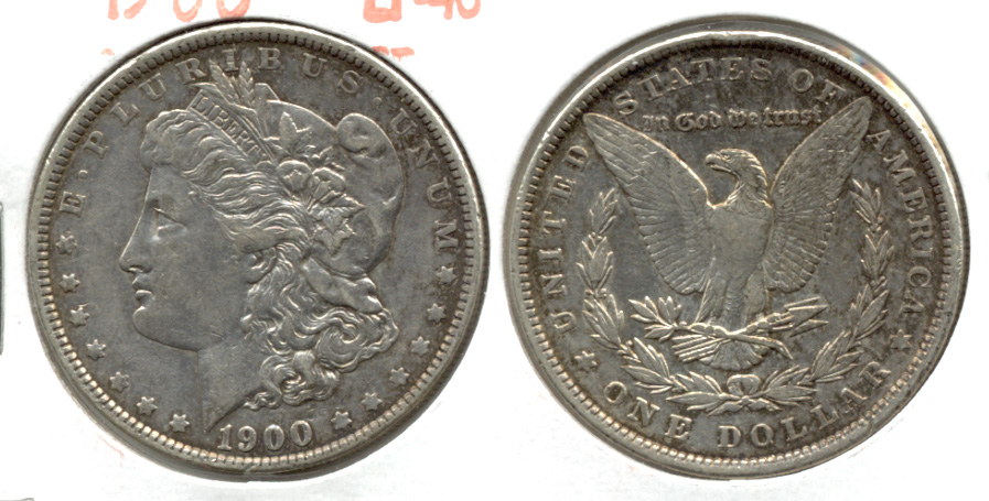 1900 Morgan Silver Dollar EF-40 t