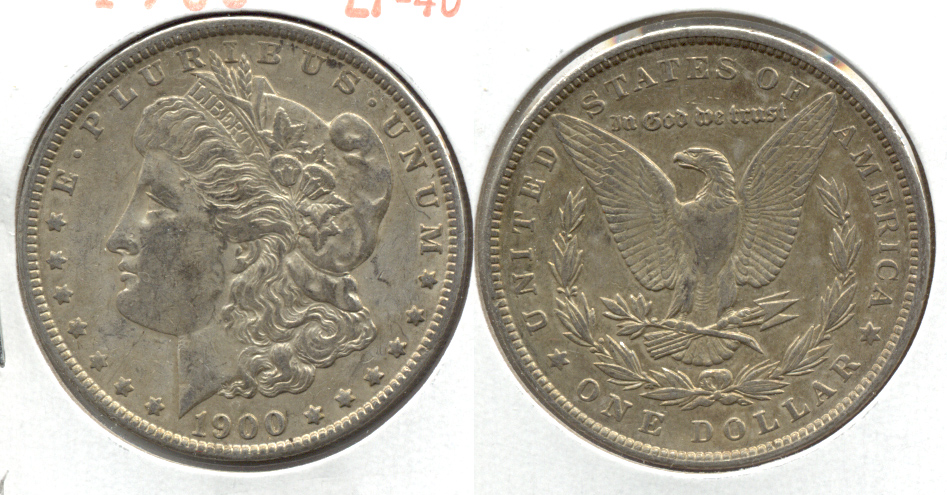 1900 Morgan Silver Dollar EF-40 y