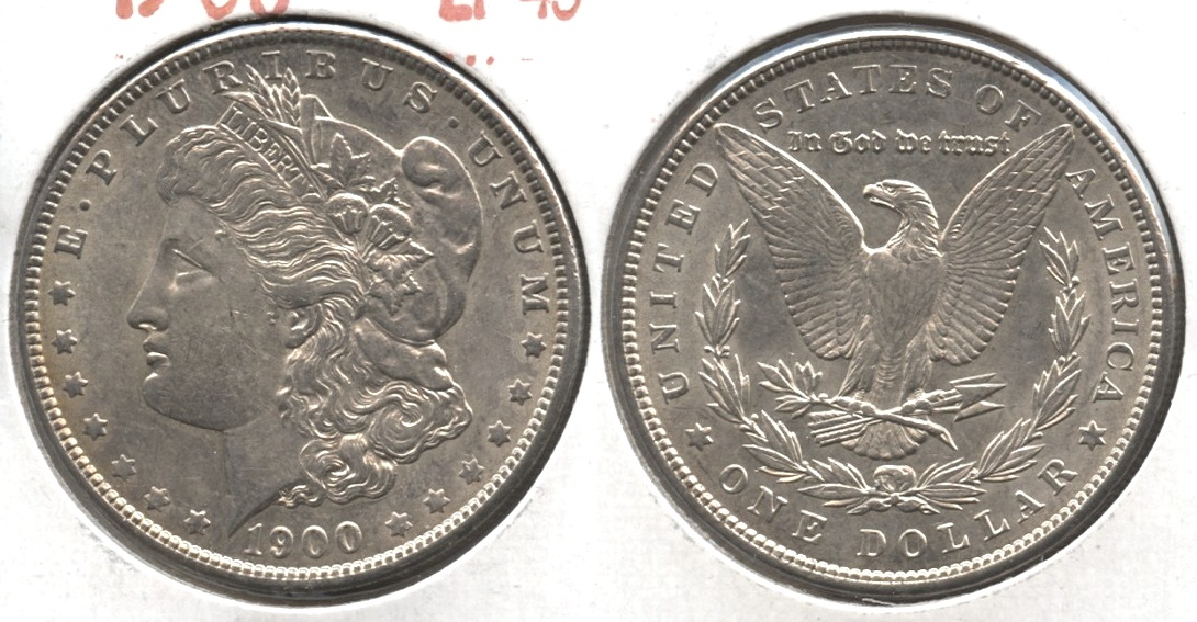1900 Morgan Silver Dollar EF-45 #s