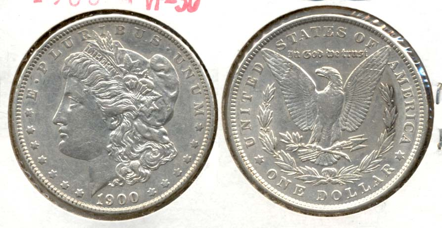 1900 Morgan Silver Dollar VF-30