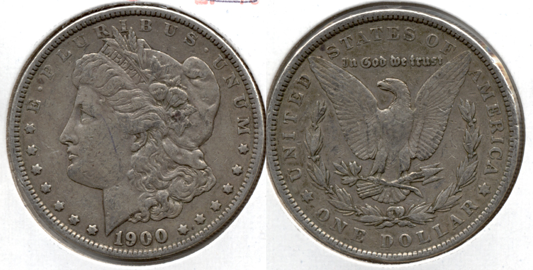 1900 Morgan Silver Dollar VF-30 c