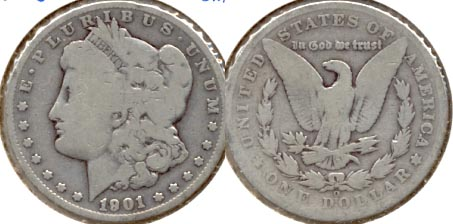 1901-O Morgan Silver Dollar AG-3