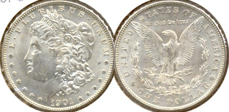 1901-O Morgan Silver Dollar MS-60