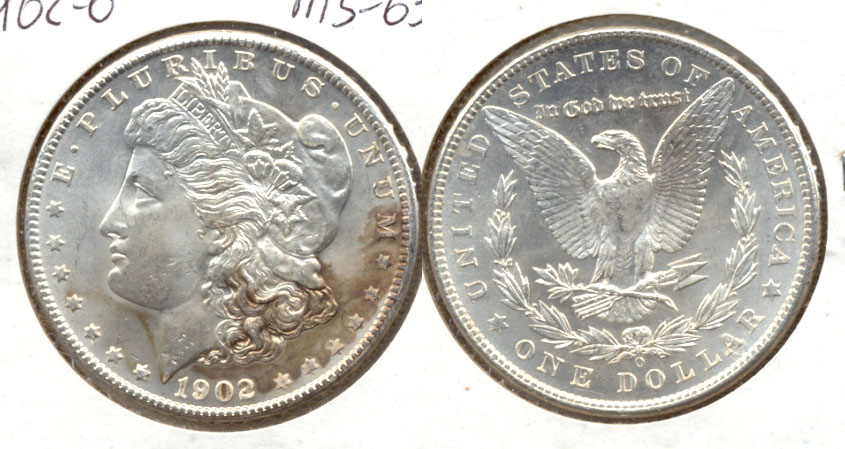 1902-O Morgan Silver Dollar MS-63 b