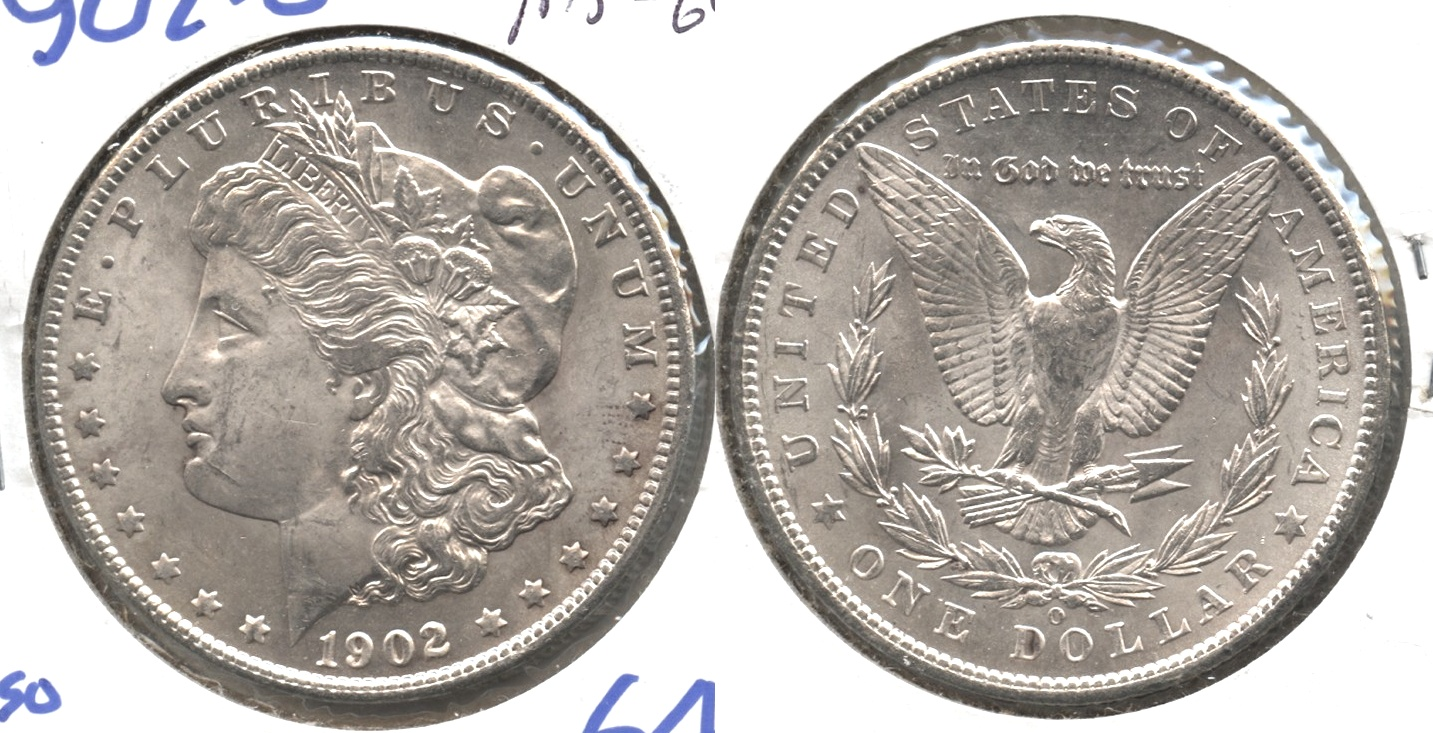 1902-O Morgan Silver Dollar MS-64 #f