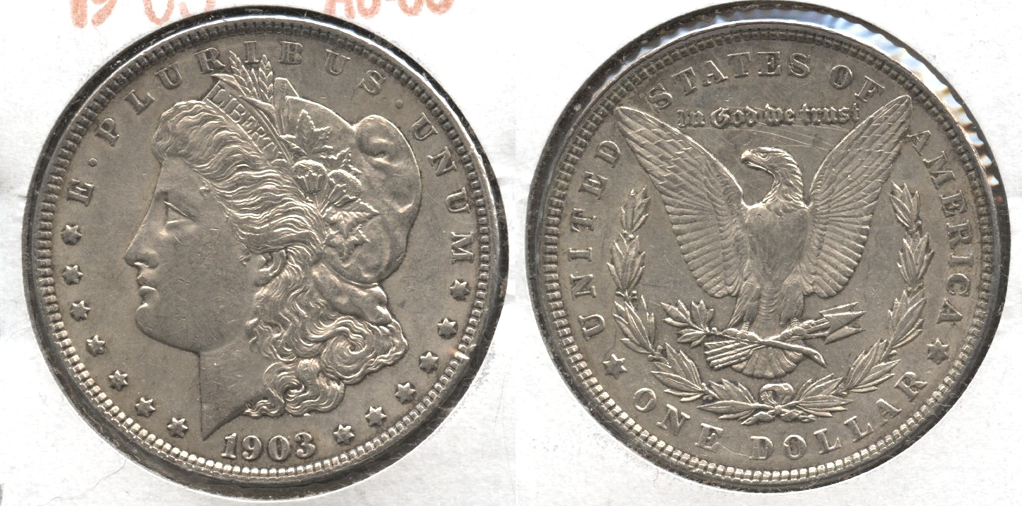 1903 Morgan Silver Dollar AU-50 #h
