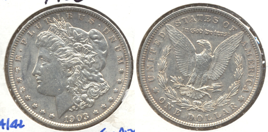 1903 Morgan Silver Dollar AU-55 a