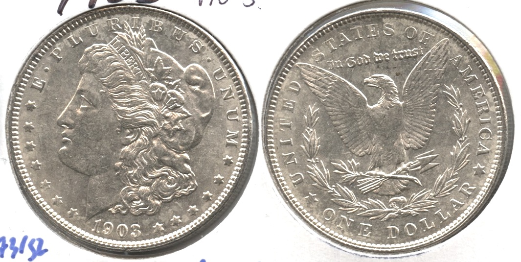 1903 Morgan Silver Dollar AU-55 #j