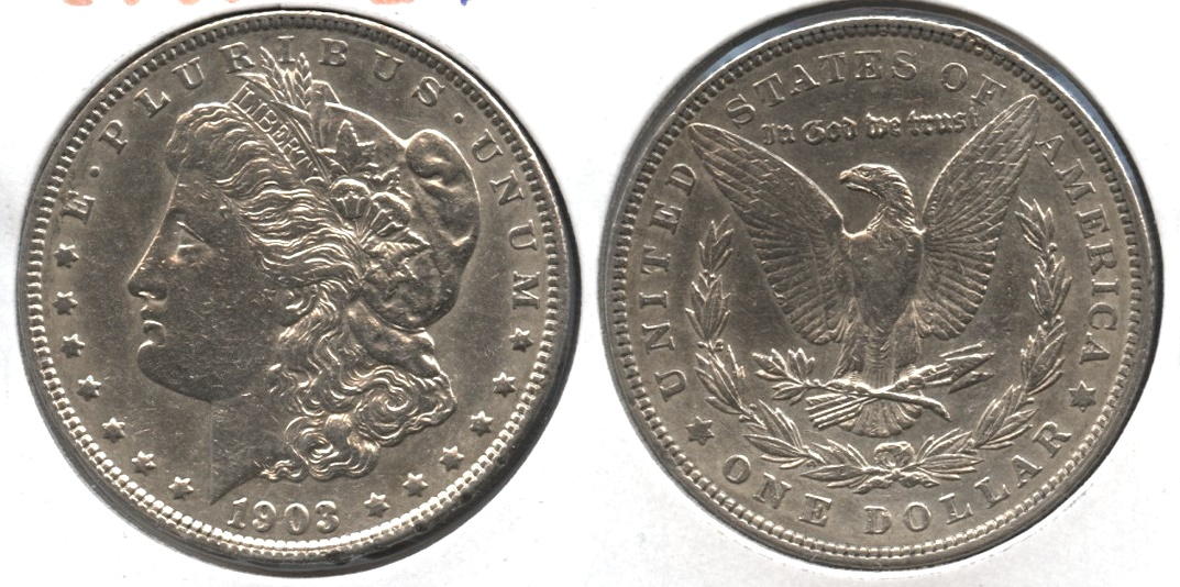 1903 Morgan Silver Dollar EF-45 #d Cleaned