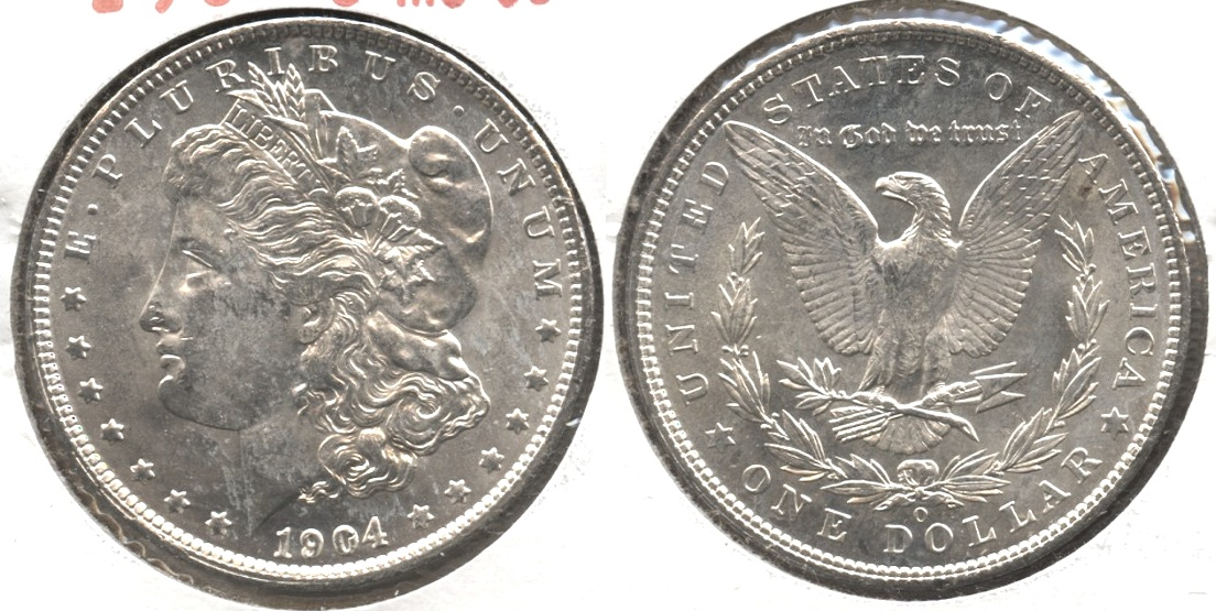 1904-O Morgan Silver Dollar MS-60 #c