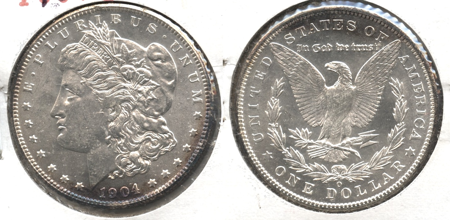 1904-O Morgan Silver Dollar MS-60 #f