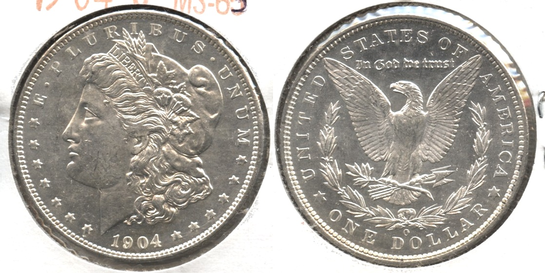 1904-O Morgan Silver Dollar MS-63 #e
