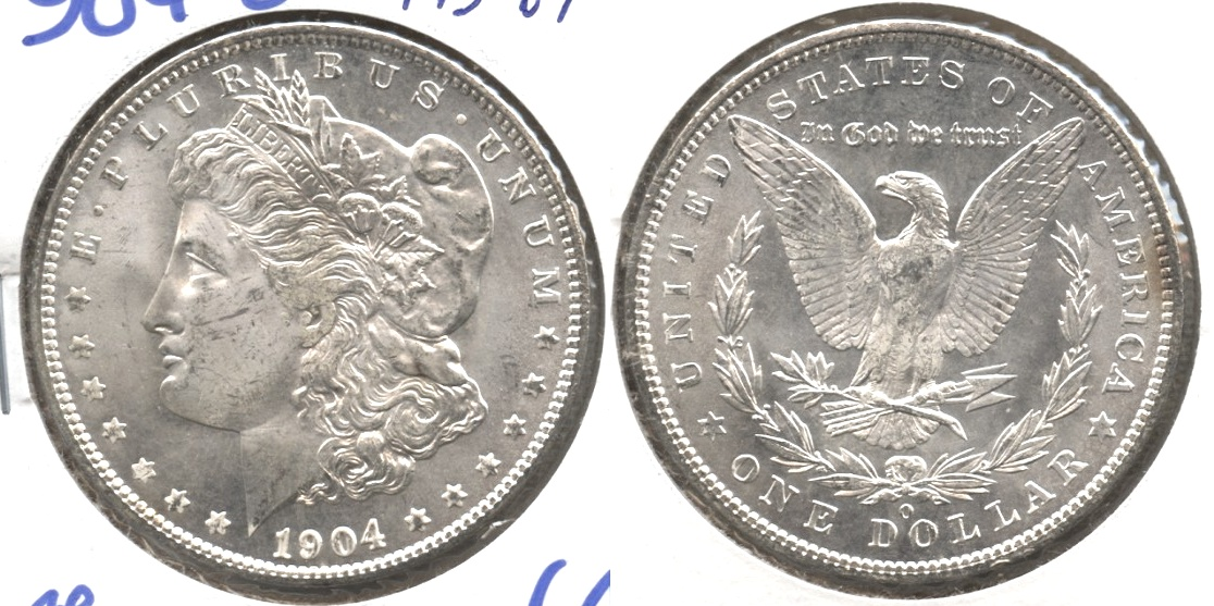 1904-O Morgan Silver Dollar MS-64