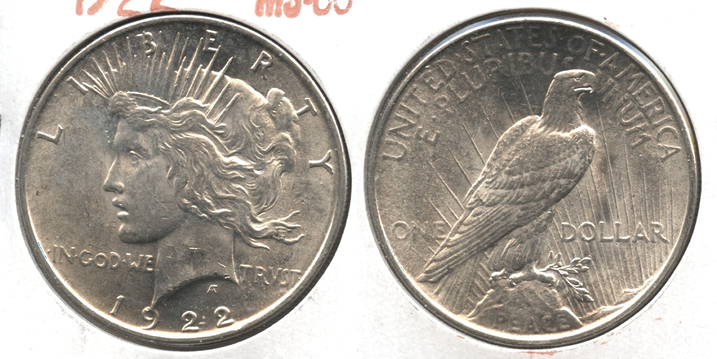 1922 Peace Silver Dollar MS-60 #a