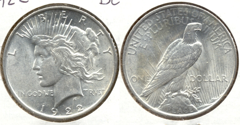 1922 Peace Silver Dollar MS-60 c