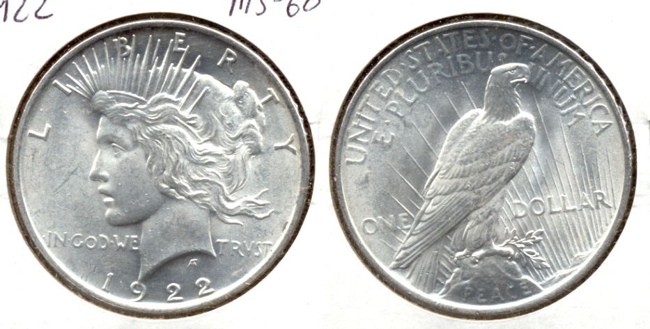 1922 Peace Silver Dollar MS-60 p