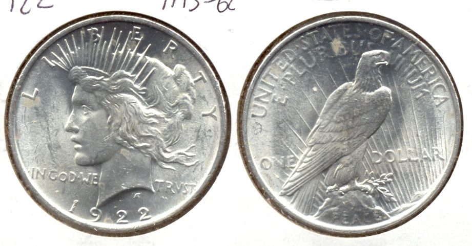 1922 Peace Silver Dollar MS-60 q