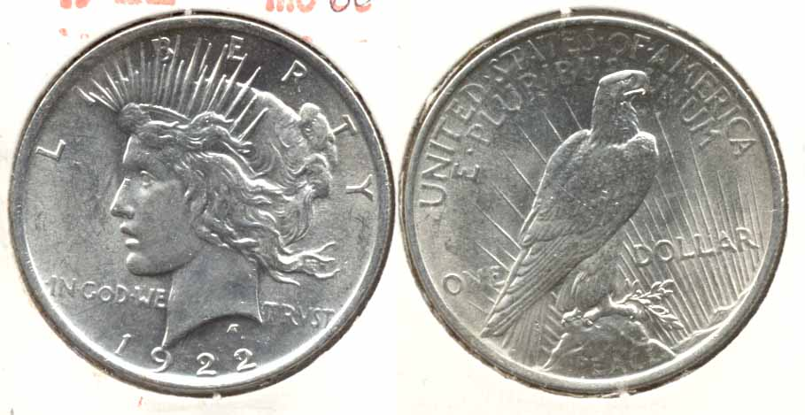 1922 Peace Silver Dollar MS-60 u